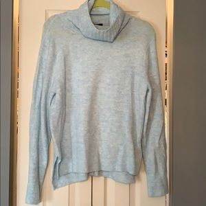 Beautiful light blue cowl neck sweater